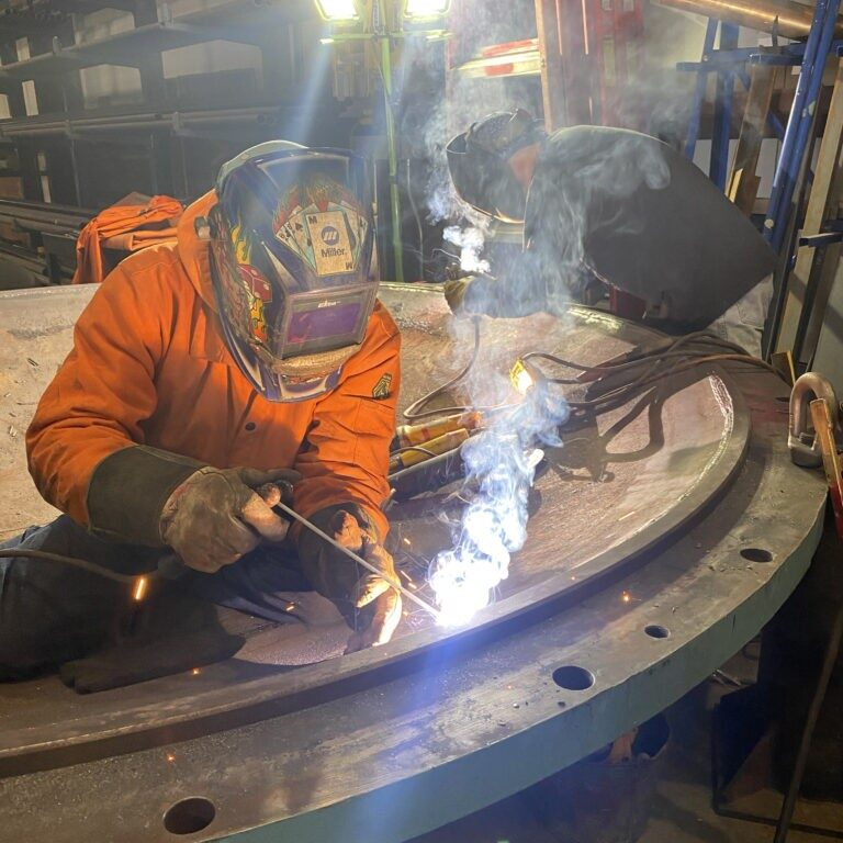 Two NBW workers welding.