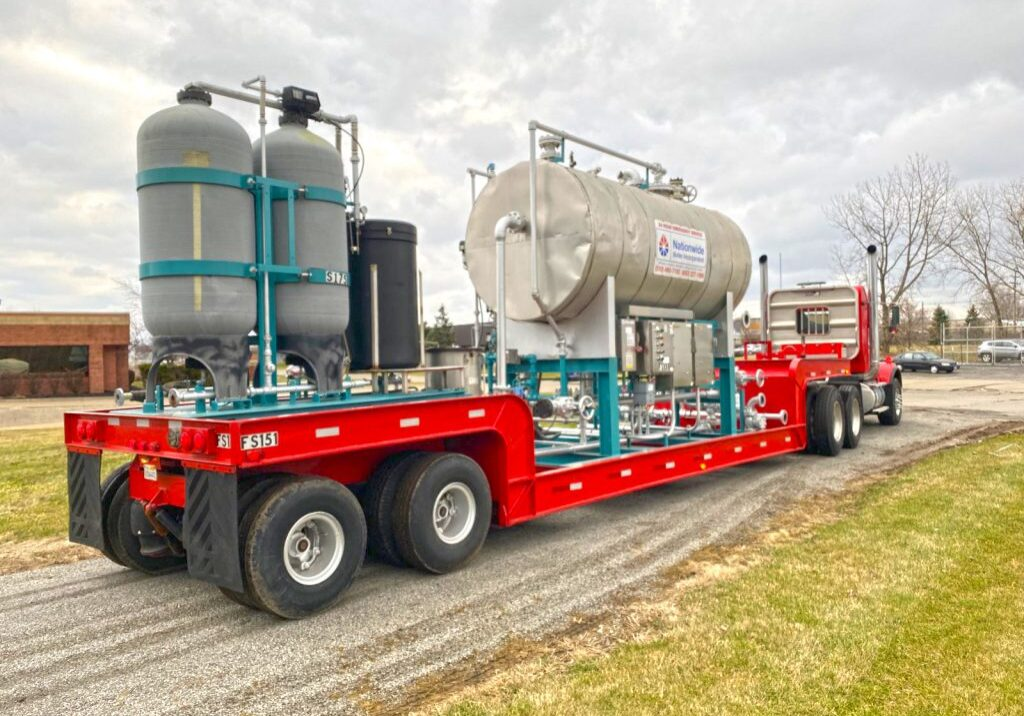 A truck shipping a boiler unit. NBW Inc.